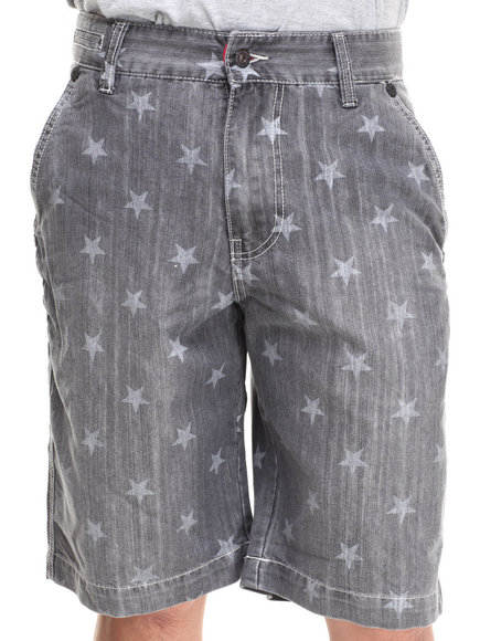 Parish Dark Wash Star Denim Short