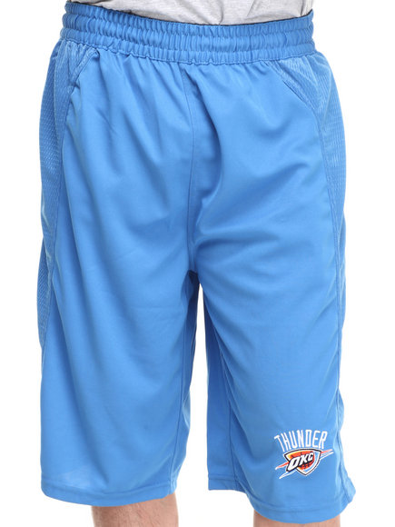 Nba, Mlb, Nfl Gear - Men Blue Oklahoma City Thunder Fence Short