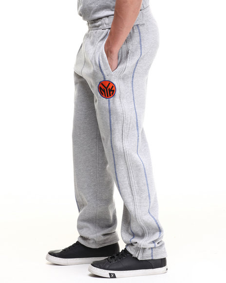 Nba, Mlb, Nfl Gear - Men Grey New York Knicks Tip Pant