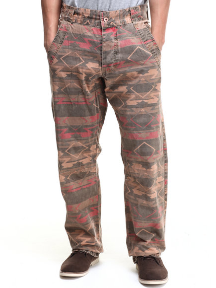 Parish Khaki,Khaki Canvas Aztec Pant