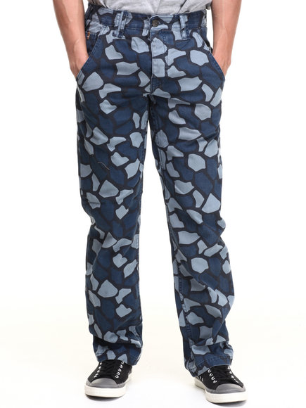 Parish Navy Grizzly Camo Pant