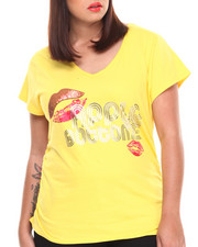 Plus Size - Lips Logo V-Neck Tee (Plus)