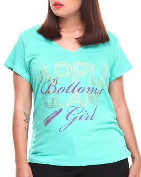 Apple Bottoms - Glam Girl V-Neck Tee (Plus)
