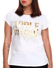 Plus Size - Apple Bottoms Glitter Scoop Neck Tee (Plus)