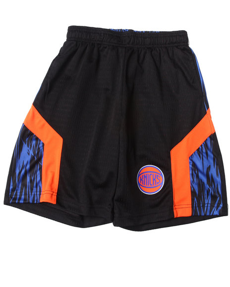 NBA MLB NFL Gear Boys Black New York Knicks Asphalt Shorts (8-20)