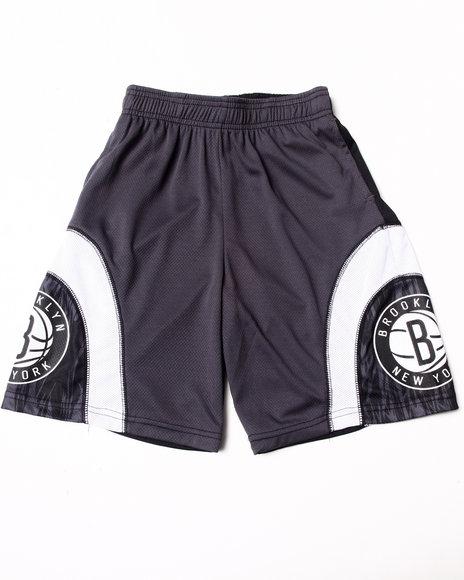 Nba Mlb Nfl Gear - Boys Black Brooklyn Nets Asphalt Shorts (8-20)