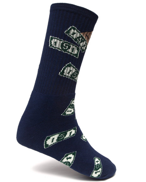 40S & Shorties Make It Rain Socks Navy