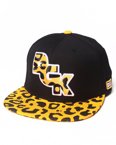 Dgk Men Fast Life Snapback Cap Animal Print