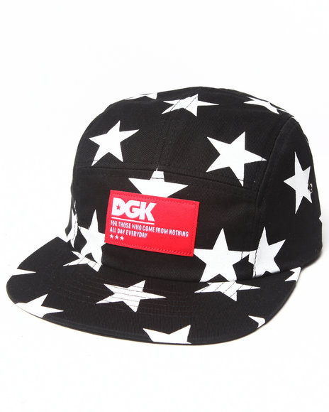 Dgk Men Justice 5-Panel Cap Black