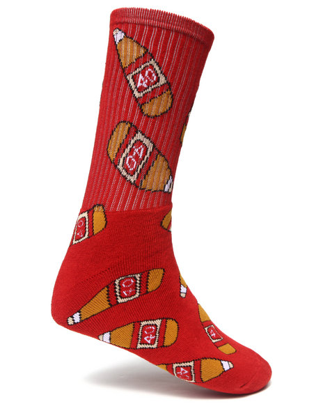 40S & Shorties 40S Socks Red