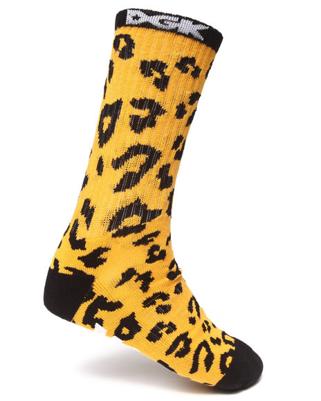 Dgk Fast Life Crew Socks Animal Print