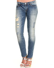 Jeans - Distressed Splatter Skinny Jean