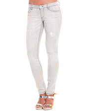 Jeans - Destructed Light Grey Skinny Jean