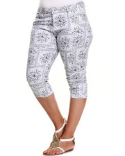 Plus Size - Bandana Printed Capri (Plus)