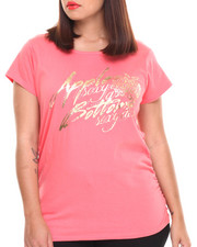 "Plus Size - ""Sexy as Sexy Does"" Scoop Neck Tee (Plus)"