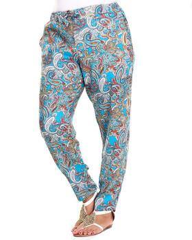 Fashion Lab - Paisley Print Chalis Pant (Plus)