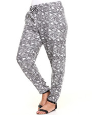 Plus Size - Triangle Geo Print Chalis Pant (Plus)