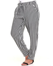 Fashion Lab - Chekered Printed Chalis Pant (Plus)