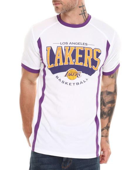 NBA, MLB, NFL Gear White Los Angeles Lakers Varsity Tee
