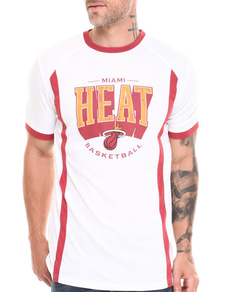 Nba, Mlb, Nfl Gear - Men White Miami Heat Varsity Tee