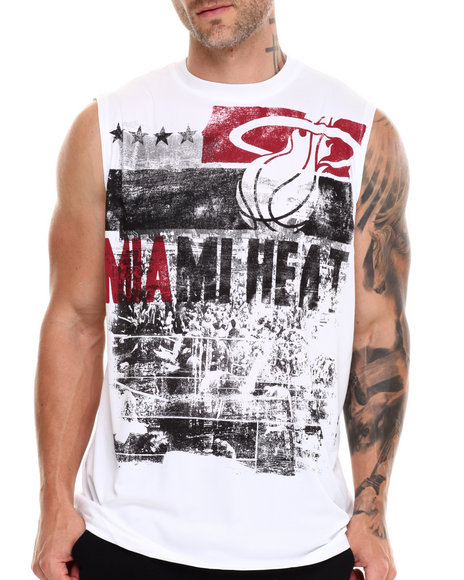 Nba, Mlb, Nfl Gear - Men White Miami Heat Mobley Muscle Tee - $18.99