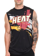 T-Shirts - Miami Heat Charlie Muscle Tee
