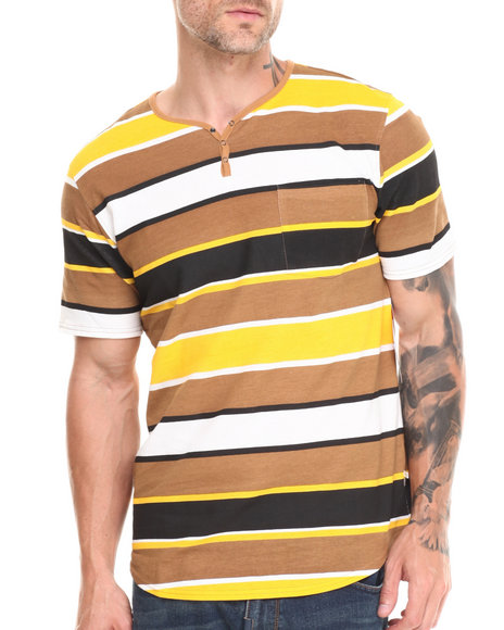 Altamont - Men Black,Tan,White,Yellow Beggars Henley Tee