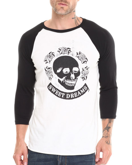 Altamont - Men Black,White Death Roses Raglan Tee