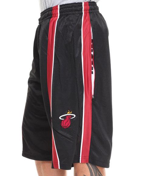 Nba, Mlb, Nfl Gear - Men Black,Red Miami Heat Varsity Short