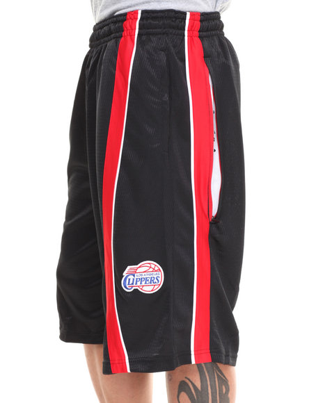 Nba, Mlb, Nfl Gear - Men Black,Red Los Angeles Clippers Varsity Short