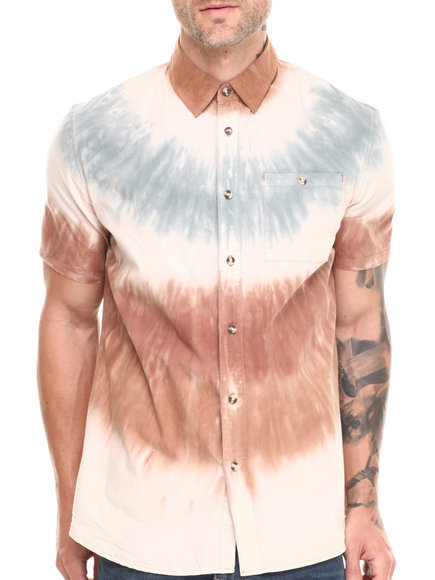 Altamont - Men Tan Sediments S/S Button-Down