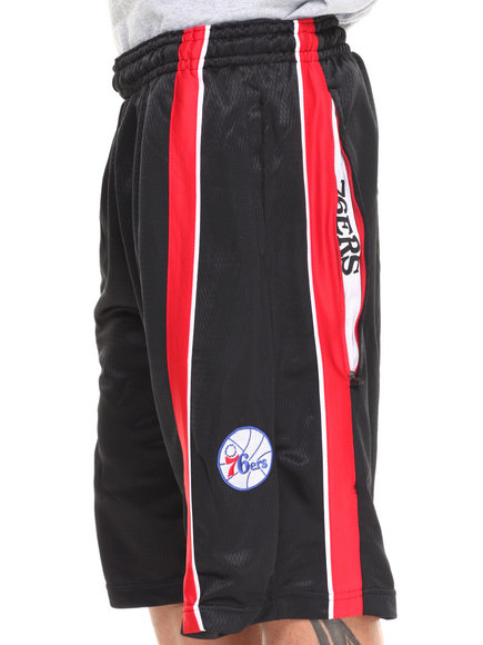 Nba, Mlb, Nfl Gear - Men Black,Red Philadelphia 76Ers Varsity Short