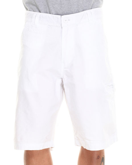 Parish White Solid Twill Short