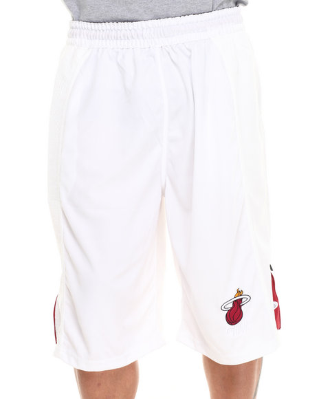 Nba, Mlb, Nfl Gear - Men White Miami Heat Fence Short