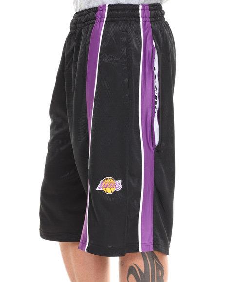 Nba, Mlb, Nfl Gear - Men Black,Purple Los Angeles Lakers Varsity Short