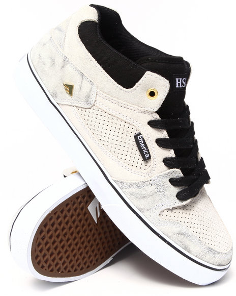Emerica White The Hsu Smooth Suede Sneakers
