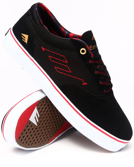 Emerica Black,Red The Provost Smooth Suede Sneakers