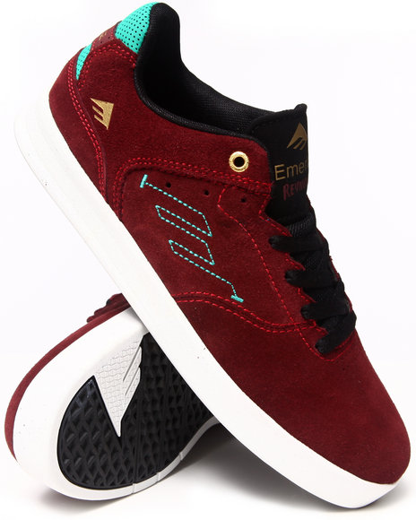 Emerica Maroon The Reynolds Low Smooth Suede Sneakers