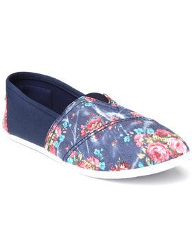 Apple Bottoms - Blue Flower Casual Canvas Sneaker
