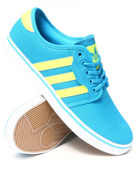 Adidas - Men Blue Seeley Sneakers - $65.00