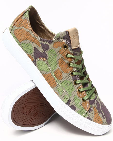 Diamond Supply Co Camo,Tan Brilliant Low Tan Rain Camo Sneakers