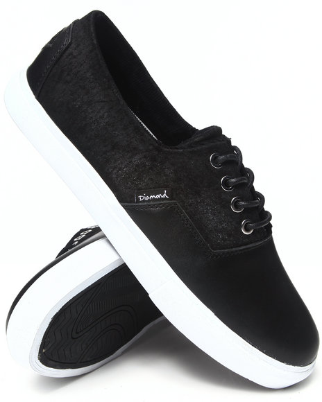 Diamond Supply Co - Men Black Diamond Cuts Black Oiled Sneakers