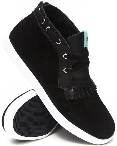 Diamond Supply Co Black Jasper Black Gator Sneakers