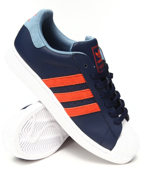 Adidas - Men Navy Superstar 2 Sneakers