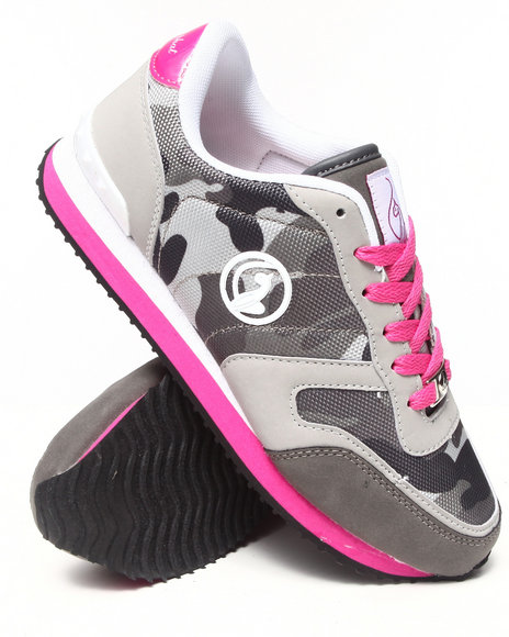 Baby Phat - Women Grey Macy Camo Trim Low Sneaker