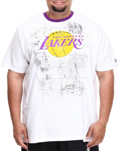Nba, Mlb, Nfl Gear - Men White Los Angeles Lakers Blueprint Tee (B&T)