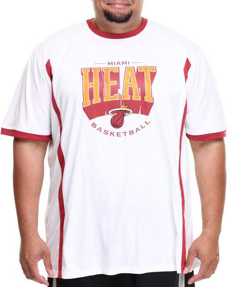 Nba, Mlb, Nfl Gear - Men White Miami Heat Varsity Tee (B&T)
