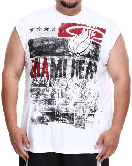 Nba, Mlb, Nfl Gear - Men White Miami Heat Mobley Muscle Tee (B&T) - $16.99