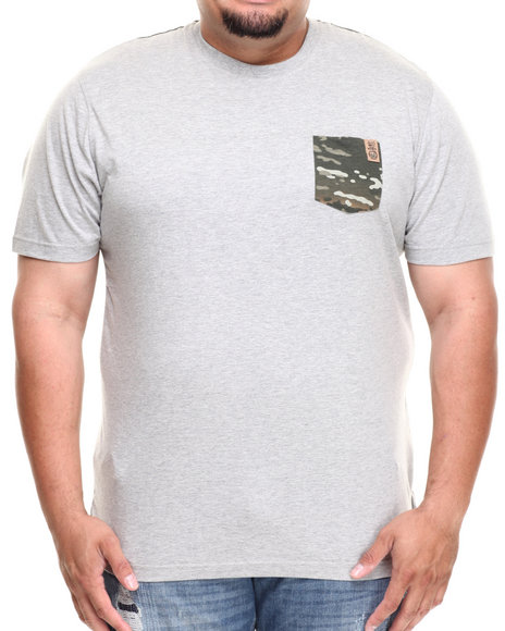 Parish Grey Clearcut Pocket Tee (Big & Tall)