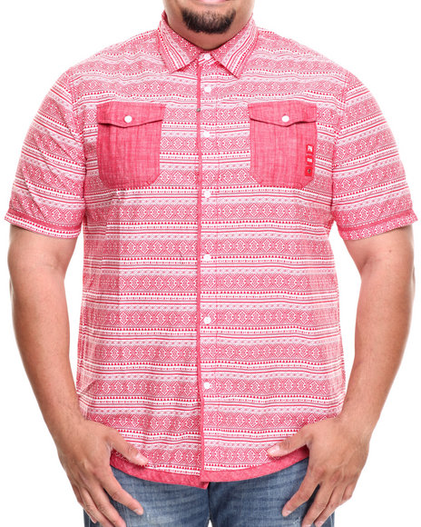 Parish Red Wanderer S/S Button Down (Big & Tall)